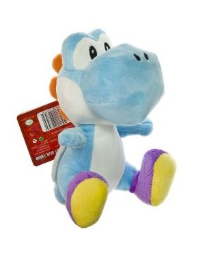 Buy Low Price Global Holdings Nintendo Super Mario Bros. Wii Plush Toy – 6″ Blue Yoshi Figure (B004XNF0P0)