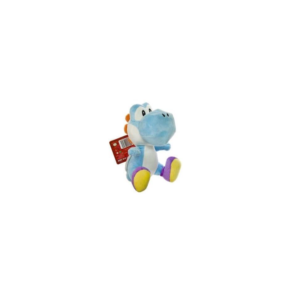 Nintendo Super Mario Bros. Wii Plush Toy   6 Blue Yoshi