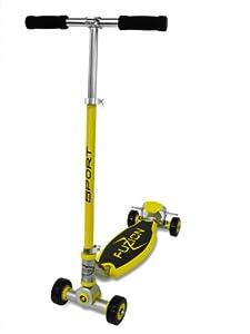 Fuzion Sport 4-Wheel Scooter, Yellow