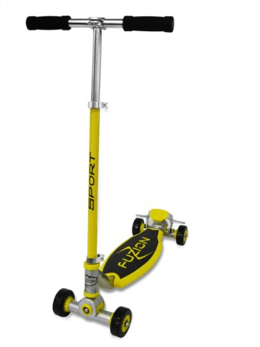 Street Surfing Fuzion Sport 4 Wheeled Scooter - Yellow