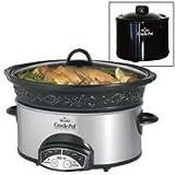 Rival SCVPE503-RS 5-Quart Crock Pot Slow Cooker w Bonus