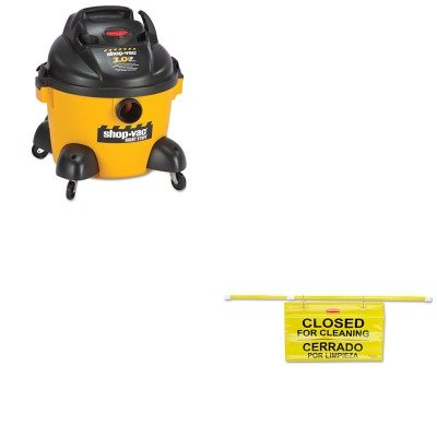 Kitrcp9S1600Ylsho9650610 - Value Kit - Shopvac Right Stuff Wet/Dry Vacuum (Sho9650610) And Rubbermaid Site Safety Hanging Sign (Rcp9S1600Yl) front-406813
