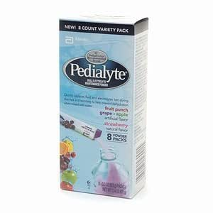 Pedialyte Powder Packs Variety, 0.3-Ounce Packets 8 Count (Pack of 2)