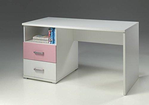 Vipack Schreibtisch Valentine, weiß-rosa