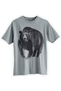 Green 3 Apparel Men's Watercolor Bear Organic USA-made T-shirt