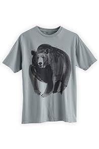 Green 3 Apparel Men's Watercolor Bear Organic USA-made T-shirt