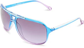 Union Bay U194 Aviator Sunglasses,Blue & Purple,63 mm