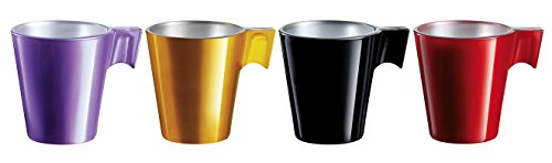 Luminance - 8010153 - Flashy Expresso - Lot de 4 Tasses - Multicolore 29 x 6 x 7 cm