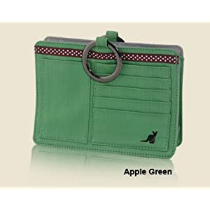 Pouchee PAPL Apple Green Cotton Purse Organizer