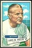 1952 Bowman Regular (Football) Card# 122 James Phelan of the Dallas Texans NrMt Condition