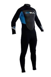 GUL Men's Response 3/2mm Blindstitch Steamer Wetsuit - Black/Deep Cyanine, Large Tall