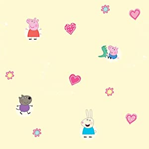 Peppa Pig Wallpaper 53 Repeat Wall Paper Decoration - 1005 x 52 cm 395