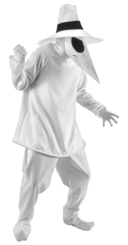 elope Spy Vs. Spy Costume, White, Small/Medium