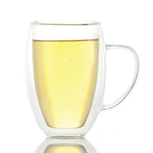 Zeus Double Wall Glass Tea & Coffee Cup Mug - 13.5Oz / 400Ml (1)