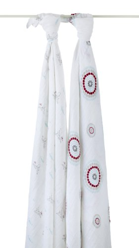 aden + anais 2 Count 100% Cotton Muslin Swaddle Blanket - 1