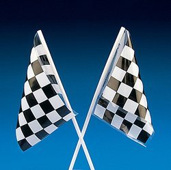 New Plastic Racing Flags (6 dozen) - Bulk