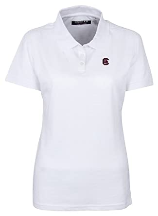 NCAA South Carolina Fightin Gamecocks Ladies 3 Button Polo Shirt with Banded Sleeves,... by Oxford