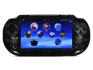 Cosmos ® Black Crystal Protection Hard Case Cover For Playstation Ps Vita & Cosmos Brand Lcd Touch Screen Cleaning Cloth