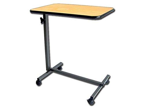 Tavolino servitore ospedale acciaio altezza regolabile su 4 rotelle removibili