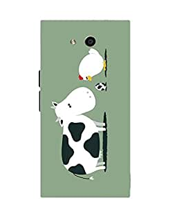 Make My Print Cartoon Printed Green Soft Silicon Back Cover For LYF Wind 4