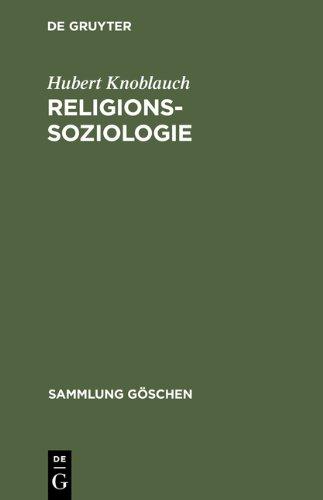 Religionssoziologie (Sammlung Goschen) (Sammlung Gaschen)