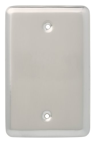 Brainerd 126441 Stamped Blank Wall Plate / Switch Plate / Cover, Satin Nickel