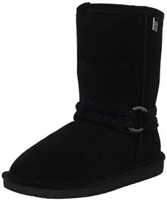 BEARPAW Women's Adele Snow Boot,Black,6 M US