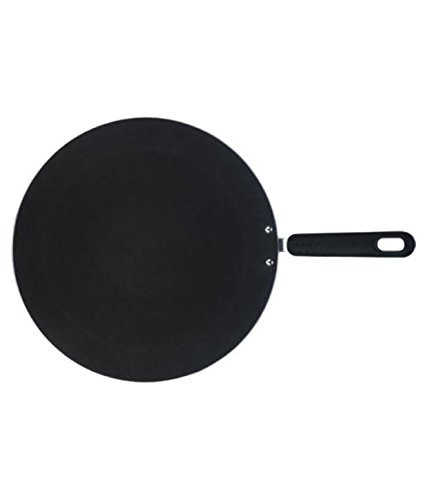 Nirali Classic Plus Nonstick Concave Tawa 5mm, Black (11.8 inch)