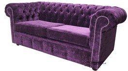 Divano a 2posti Chesterfield velluto ametista tessuto divano offerta