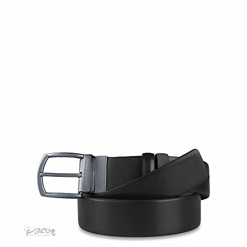 Piquadro-Cintura uomo double face con fibbia ad ardiglione - Colore : Nero- Taglia : T.U