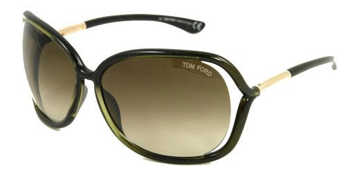 Tom Ford Raquel FT0076 Sunglasses - U45 Shaded Black Olive Green (Gradient Olive Green Lens) - 63mm