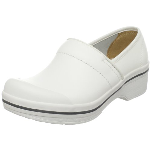 Dansko Women's Volley Box Leather Clog,White Box,37 EU / 6.5-7 B(M) US