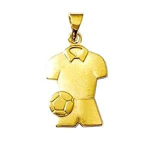So Chic Bijoux - Pendentif Football Ballon Maillot & Short Plaqué Or 750