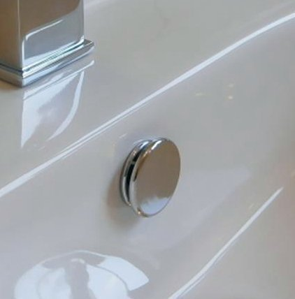Superb Quality TROVE HOUSE BRAND Bathroom Basin / Sink Overflow Cover Paris  Insert In Chrome Colour
