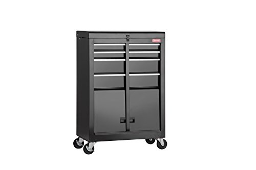 Handyman Metal Rolling Tool Cart 4 Drawer Tool Chest Cabinet Storage Tool Box with Locks – Color Black