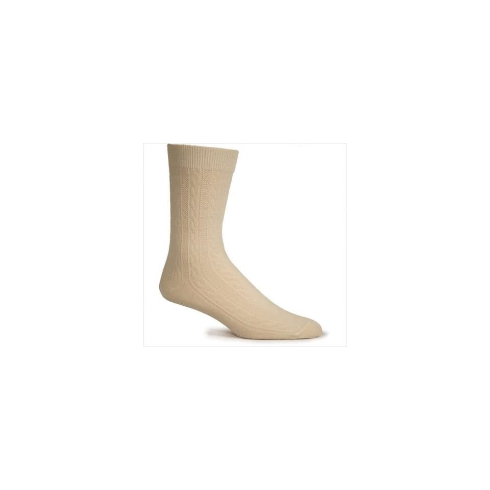 Goodhew LC1W010 Womens San Fran Cable Merino Wool / Bamboo Crew Sock (Set of 2)