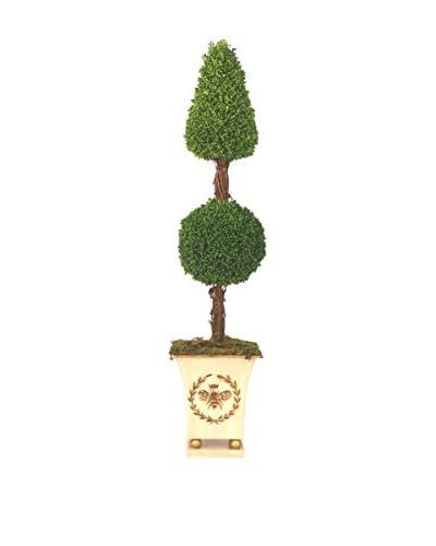 Creative Displays Sedum Cone & Ball Topiary, Green/Crème/Gold