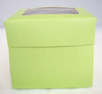 Single Green Cupcake Boxes with Window packs of 10