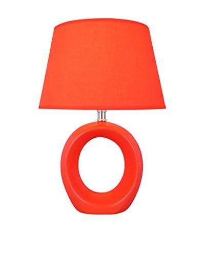 Lite Source Viko 1-Light Table Lamp, Orange