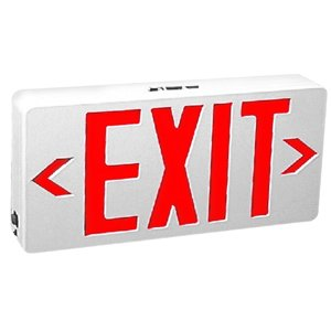 Tcp Red Led Exit Sign With Battery 22743