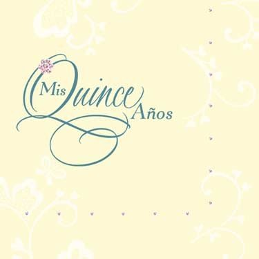 Mis Quince Lunch Napkins Serviellatas (36 Count) - 1