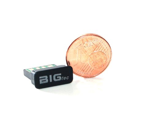 BIGtec nano micro pico Bluetooth Adapter Stick micro Bluetooth Dongel USB-Adapter USB 2.0 zu micro Bluetooth Stick Adapter Class2 EDR V2.1 - Windows 7 / XP / Vista / 2000