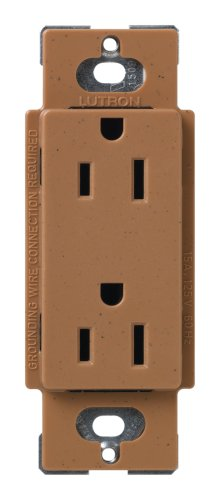 Lutron Scr-15-Tc Satin Colors 15A Electrical Socket Duplex Receptacle, Terracotta