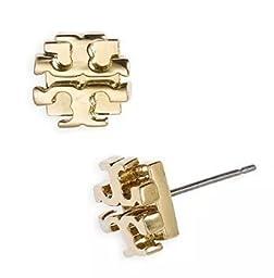 Trendy T Earrings Studs Gold