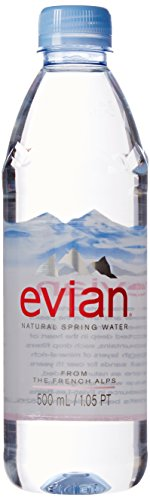 evian Natural Spring Water 500 ml, 24 Count (Drinking Water Cases compare prices)