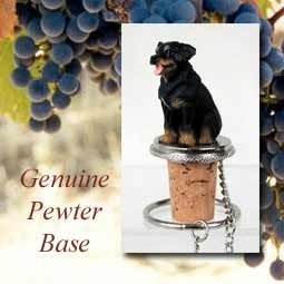 Rottweiler Wine Bottle Stopper from Conversation Concepts: Rottweiler