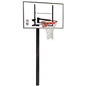 Buy Spalding 88454G NBA 54 Glass Backboard In-Ground Basketball System by Spalding