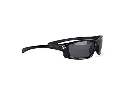 Spiuk Spicy - Gafas de ciclismo unisex, color negro mate / negro