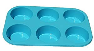 Better Value Non-stick Silicone 6 Cup Muffin Pan Cake Pan mould by Better Value