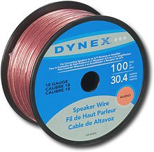Dynex DX-AV253 - Bulk speaker cable - 18 AWG - 100 ft (600603114151)